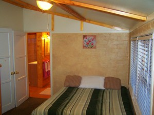 1 Bedroom cottages with large Jacuzzi or Spa. Pet friendly - Kitchen and fireplace. #5,6 Picture 3