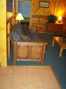 1 Bedroom cottages with large Jacuzzi or Spa. Pet friendly - Kitchen and fireplace. #5,6 Picture 2