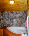 1 Bedroom cottages with large Jacuzzi or Spa. Pet friendly - Kitchen and fireplace. #5,6 Photo 4
